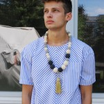 bluestripes_shirt & softball chain