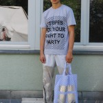 """sfyrtp"" shirt & bluestripes bag"